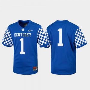 Kentucky Wildcats Jersey Royal For Kids Replica College Football #1 Official 918686-163