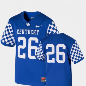 College Football Stitched Kentucky Jersey #26 For Kids Team Replica Royal 655452-630