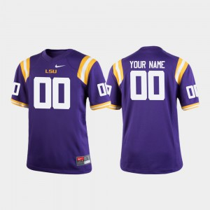#00 Purple Youth College Football LSU Custom Jersey Official 787104-678