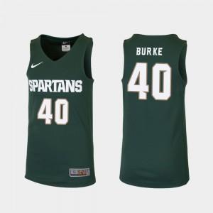 College Kids Michigan State University Braden Burke Jersey Replica College Basketball #40 Green 739535-442