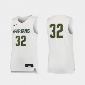 White Replica High School Spartans Jersey #32 Basketball Youth 949819-673
