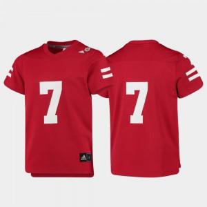 University of Nebraska Jersey #7 Replica For Kids Scarlet College Football University 938662-531