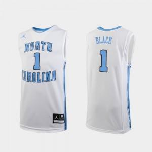 College Basketball #1 Youth(Kids) Player White Replica University of North Carolina Leaky Black Jersey 603760-641