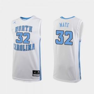 College Basketball UNC Tar Heels Luke Maye Jersey White Replica Player Kids #32 562189-285