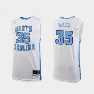 Embroidery Youth(Kids) White Replica UNC Tar Heels Ryan McAdoo Jersey College Basketball #35 869239-958