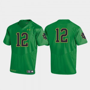 Kelly Green Embroidery Replica Youth(Kids) ND Jersey Football 2019 #12 146902-889