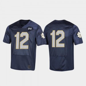 Stitched 150th Anniversary #12 Fighting Irish Jersey For Kids Navy College Football 381127-851