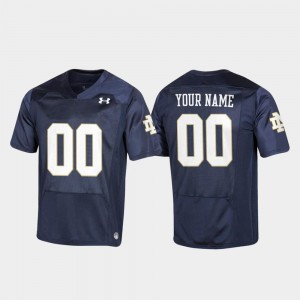 Replica #00 Player Football University of Notre Dame Customized Jersey Navy For Kids 689957-506