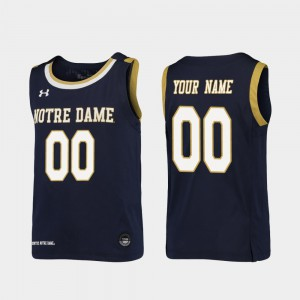 UND Customized Jersey #00 Navy Youth Replica Official College Basketball 300648-333