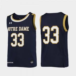 Navy Replica Kids #33 College Basketball UND Jersey Alumni 475880-254