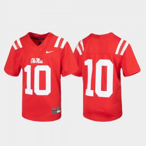 University of Mississippi Jersey Youth Red #10 Untouchable Alumni Football 669791-590