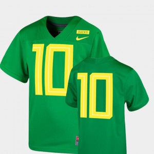 College Youth(Kids) Oregon Duck Jersey 2018 Mighty Oregon Football Game #10 Apple Green 789825-482