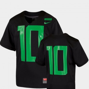 Black #10 2018 Mighty Oregon Youth Football Game Stitched Ducks Jersey 918477-706