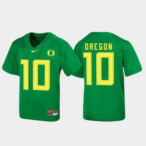 Green Untouchable Stitch Football University of Oregon Jersey #10 Youth 844926-448
