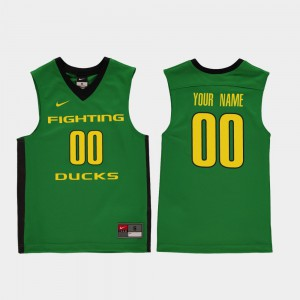 Green Embroidery University of Oregon Customized Jersey Replica #00 College Basketball Youth 318676-345