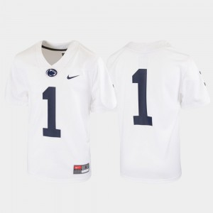 White Youth #1 Penn State Nittany Lions Jersey Stitched Untouchable Football 273718-275