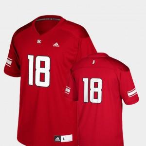 Scarlet NCAA College Football Kids Rutgers University Jersey Replica #18 755737-352