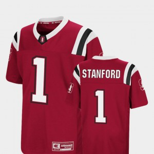 Foos-Ball Football #1 College Cardinal Youth(Kids) Colosseum Stanford University Jersey 143841-652