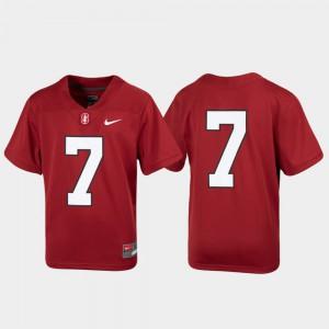 Stanford University Jersey Youth(Kids) Cardinal Football #7 University Untouchable 940667-325