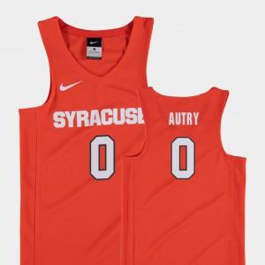 Orange College Basketball Replica Cuse Orange Adrian Autry Jersey #0 University Youth(Kids) 232282-718