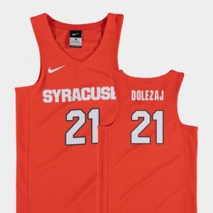 Replica College Orange Youth Syracuse Orange Marek Dolezaj Jersey College Basketball #21 632680-852