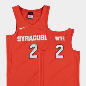 Stitched Orange College Basketball Youth Replica #2 Cuse Matthew Moyer Jersey 198616-300