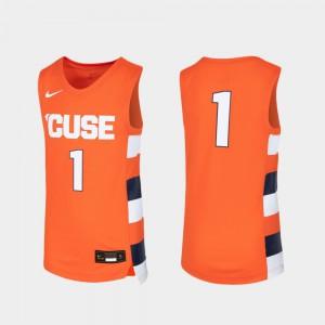 Syracuse Jersey #1 For Kids Replica Basketball University Orange 471888-950