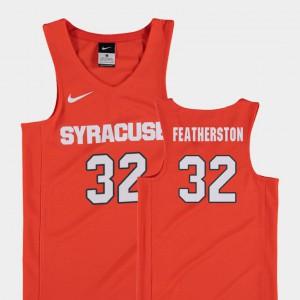 Youth #32 Replica High School Orange College Basketball Syracuse University Ray Featherston Jersey 582817-948