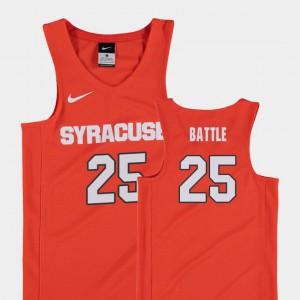 Player Orange College Basketball #25 Kids Replica Syracuse Orange Tyus Battle Jersey 441633-690