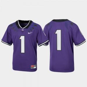 For Kids Untouchable Purple Texas Christian University Jersey #1 Football Alumni 884739-541