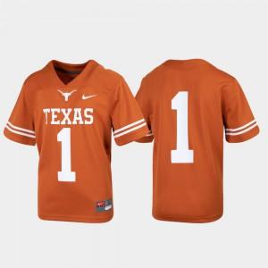 Stitched Untouchable Football #1 Youth UT Jersey Texas Orange 117517-819