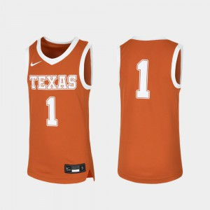 #1 Orange University of Texas Jersey Replica Basketball Youth Player 542519-822