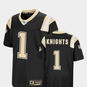 Alumni Black #1 Foos-Ball Football Colosseum Youth(Kids) Knights Jersey 396669-151