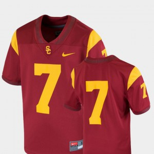 #7 Youth Team Replica Official Cardinal College Football USC Jersey 248719-392