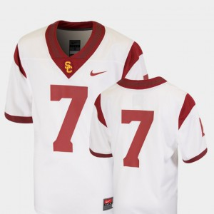 USC Trojans Jersey White Youth(Kids) College Football Team Replica #7 High School 271677-270
