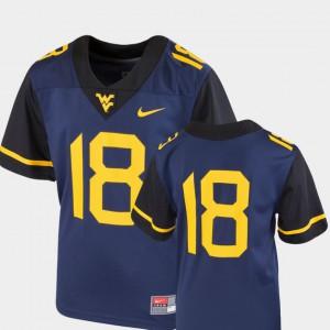 Navy Kids College Football West Virginia University Jersey #18 Team Replica High School 928852-188