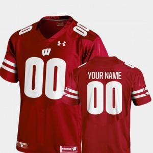 Wisconsin Badger Custom Jerseys College Football #00 University Red Youth(Kids) 2018 Replica 761297-821